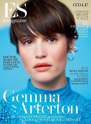 GEMMA ARTERTON Photo Cover interview UK ES MAGAZINE April 2017