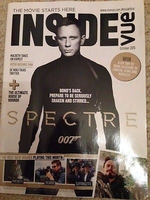 Daniel Craig JAMES BOND SPECTRE UK PHOTO COVER SPECIAL MAGAZINE OCTOBER 2015