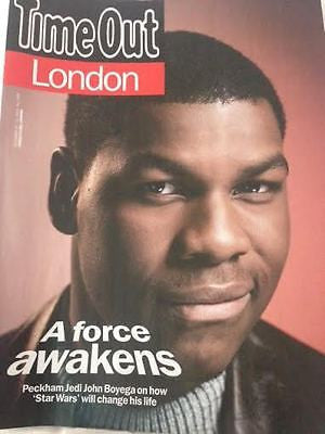 TIME OUT London MAGAZINE DEC 2015 STAR WARS THE FORCE AWAKENS FINN PHOTO COVER