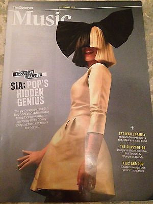 This is Acting SIA PHOTO INTERVIEW OBSERVER MAGAZINE JAN 2016 THE BEATLES