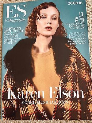 (UK) ES MAGAZINE August 2016 KAREN ELSON PHOTO COVER INTERVIEW