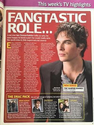 UK Total TV Guide Magazine 30 January 2010 Ian Somerhalder Vampires Diaries