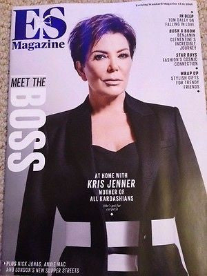 KRIS JENNER PHOTO COVER INTERVIEW LONDON ES MAGAZINE NOVEMBER 2015 - NICK JONAS