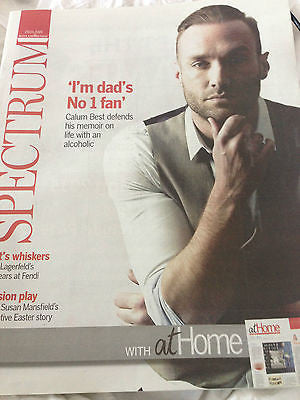 CALUM BEST PHOTO INTERVIEW ON GEORGE BEST SPECTRUM MAGAZINE MARCH 2015