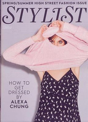 ALEXA CHUNG Photo Cover interview UK STYLIST MAGAZINE March 2016