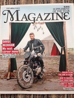 (UK) TIMES MAGAZINE SEPTEMBER 5 2015 DAVID BECKHAM PHOTO COVER INTERVIEW
