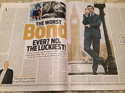 James Bond GEORGE LAZENBY PHOTO INTERVIEW UK MAGAZINE NOVEMBER 2015 BEN WHISHAW