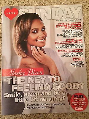 ALESHA DIXON Photo Cover Interview SUNDAY Magazine FEBRUARY 2016 TOM HIDDLESTON