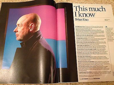 OBSERVER MAGAZINE MARCH 2016 BRIAN ENO HUNTER S THOMPSON JIM CHAPMAN