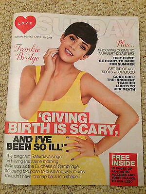 UK SUNDAY MAGAZINE - FRANKIE SANDFORD BRIDGE - APRIL 19 2015