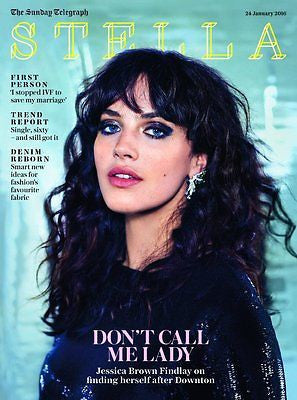 JESSICA FINDLAY BROWN Photo Cover interview UK STELLA MAGAZINE JANUARY 2016 NEW