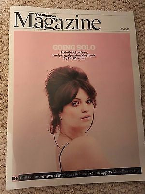 Bob Peaches Geldof PIXIE PHOTO COVER OBSERVER MAGAZINE OCT 2016 PHIL COLLINS