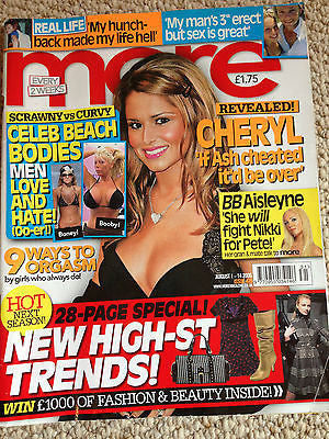 MORE Magazine 2006 CHERYL COLE HEATH LEDGER PANIC AT THE DISCO JUSTIN TIMBERLAKE
