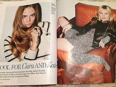 YOU MAGAZINE NOVEMBER 2015 CARA DELEVIGNE & KATE MOSS PHOTO SHOOT MARTIN KEMP