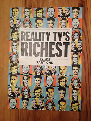 REALITY TV'S RICHEST 2014 JEDWARD CHER LLOYD KYM MARSH GEORGE SAMPSON LEE MEAD