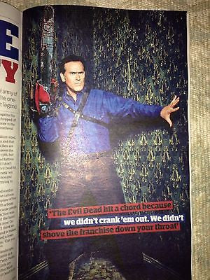 Evil Dead BRUCE CAMPBELL PHOTO INTERVIEW December 2015 STAR WARS COVER MAGAZINE