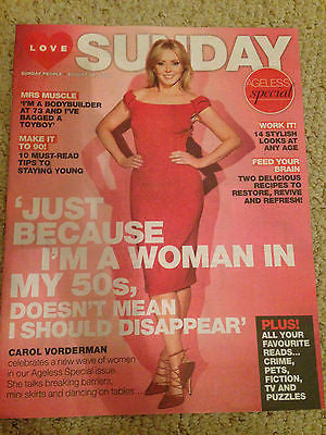 CAROL VORDERMAN PHOTO COVER INTERVIEW LOVE SUNDAY MAGAZINE AUGUST 2016