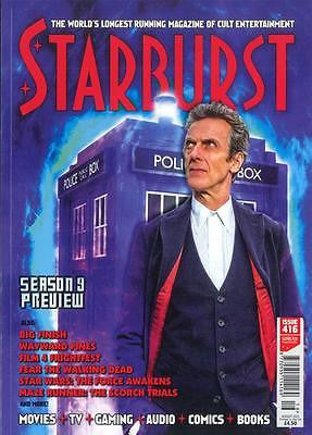 PETER CAPALDI DOCTOR WHO PHOTO COVER INTERVIEW UK STARBURST MAGAZINE SEPT 2015