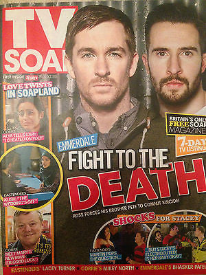 TV SOAP MAGAZINE OCT 2015 MIKEY NORTH BHASKER PATEL MICHAEL PARR Anthony Quinlan