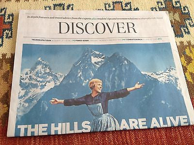 The Sound of Music JULIE ANDREWS UK PHOTO COVER TELEGRAPH SUPPLEMENT MARCH 2015