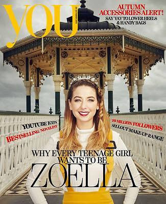 (UK) YOU MAGAZINE OCTOBER 2015 ZOE ZOELLA PHOTO COVER INTERVIEW - DREW BARRYMORE
