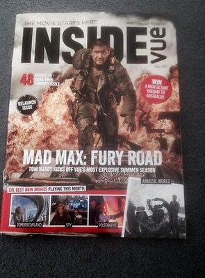 (UK) VUE MAGAZINE MAY 2015 TOM HARDY MAD MAX FURY ROAD