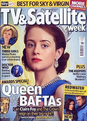 TV & Satellite magazine May 13th 2017 Claire Foy The Crown BAFTAS