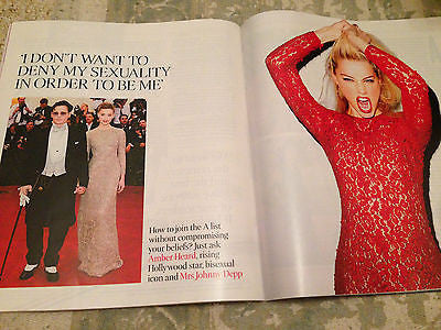 Mrs Johnny Depp AMBER HEARD PHOTO INTERVIEW TIMES MAGAZINE JUNE 2015 VIC REEVES