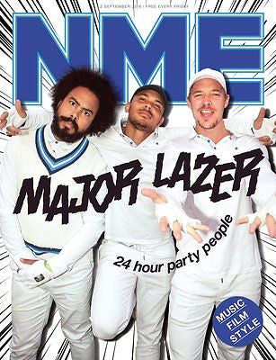 MAJOR LAZER Photo Cover Interview UK NME MAGAZINE SEPTEMBER 2016 BRITNEY SPEARS