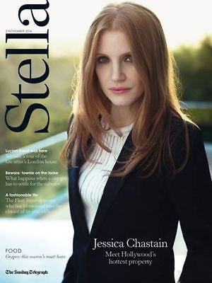 STELLA MAGAZINE NOVEMBER 2014 JESSICA CHASTAIN INTERSTELLAR PHOTO INTERVIEW
