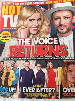 HOT TV Magazine January 2016 BOY GEORGE Dakota Blue Richards DOUGLAS HENSHALL