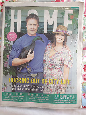 PRIMEVAL James Murray Sarah Parish photo cover interview JULY 2014