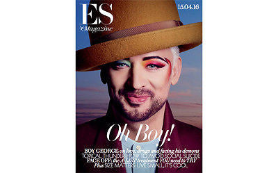 (UK) ES MAGAZINE APRIL 2016 BOY GEORGE CULTURE CLUB PHOTO COVER INTERVIEW