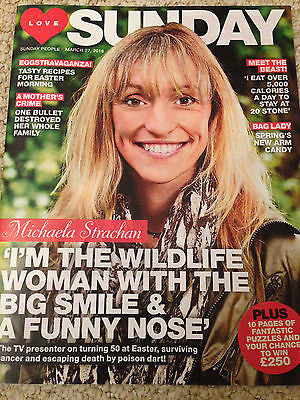 LOVE Sunday Magazine March 2016 MICHAELA STRACHAN PHOTO COVER INTERVIEW