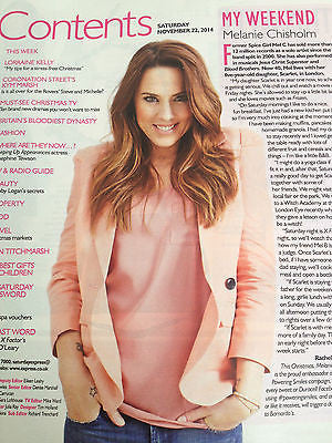 Saturday Magazine November 2014 JOSEPHINE TEWSON Mel C Gabby Logan Kym Marsh