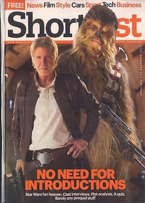 UK Shortlist Magazine December 2015 Harrison Ford Han Solo Star Wars Adam Driver
