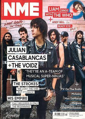NME MAGAZINE NOVEMBER 2014 JULIAN CASABLANCAS THE VOIDZ LIAM GALLAGHER THE WHO