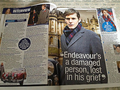 Endeavour SHAUN EVANS Photo Interview 2014 TOM RILEY JAMIE DORNAN MARTIN CLUNES