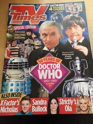DR WHO AT 50 - William Hartnell & Patrick Troughton TV Times UK magazine 11/2013