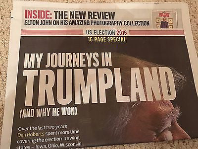 DONALD TRUMP - MY JOURNEY IN TRUMPLAND - UK OBSERVER 16 PAGE SPECIAL - NOV 2016