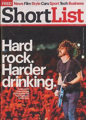 SHORTLIST MAGAZINE FEB 2015 DAVE GROHL THE FOO FIGHTERS TOUR MARILYN MANSON