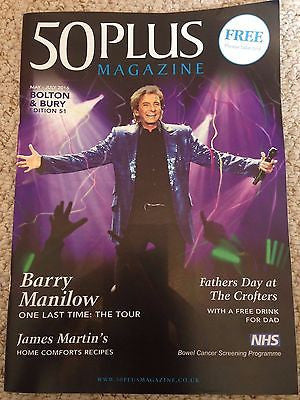 BARRY MANILOW - ONE LAST TIME 50 PLUS UK magazine May 2016