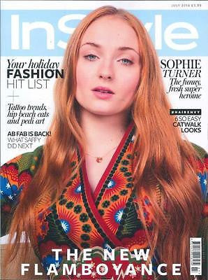 SOPHIE TURNER - GAME OF THRONES InStyle UK magazine July 2016