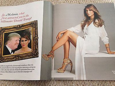 MELANIA TRUMP interview DONALD UK 1 DAY ISSUE 2016 STEVEN GERRARD KATE MIDDLETON
