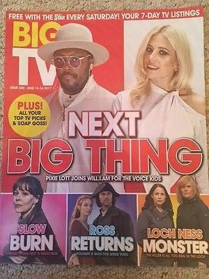 BIG TV Magazine June 2017 Pixie Lott Will.i.am Aidan Turner Poldark  Rob Mallard