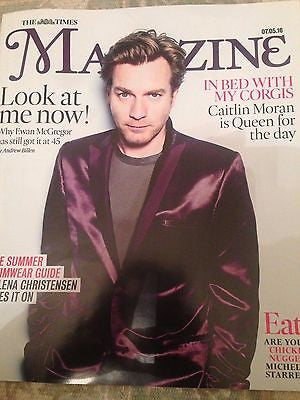 UK TIMES Magazine May 2016 Ewan McGregor Photo Cover interview