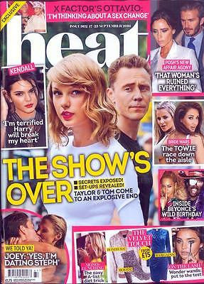 UK HEAT Magazine 17 Sept 2016 TAYLOR SWIFT TOM HIDDLESTON PHOTO COVER