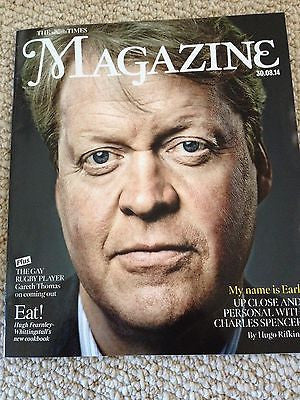 (UK) TIMES MAGAZINE AUGUST 2014 CHARLES SPENCER interview PRINCESS DIANA