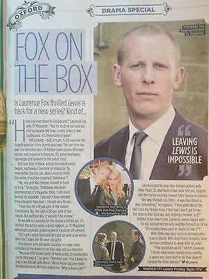 NEW TV Magazine 2014 LAURENCE FOX Rob James Collier Robson Green Fiona Wade