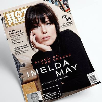 IMELDA MAY Photo Cover INTERVIEW HOT PRESS MAGAZINE MAY 2017 - CILLIAN MURPHY